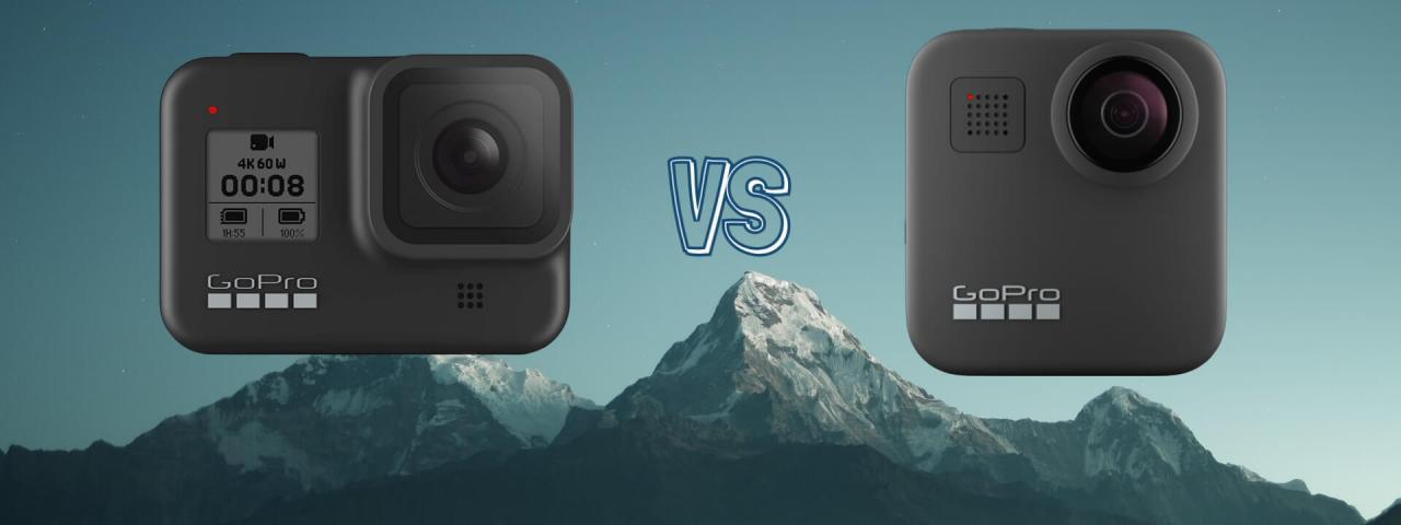 GoPro Hero 8 Black vs GoPro Max 360 Action Camera Comparison