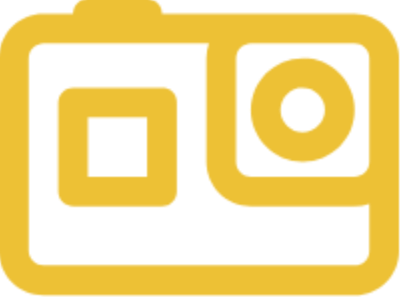 action camera finder logo orange