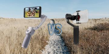 dji om 4 vs zhiyun smooth q2 smart phone gimbal comparison