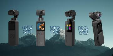 Fimi Palm vs DJI Osmo Pocket vs Snoppa Vmate vs Keelead P6A Gimbal Action Camera Comparison