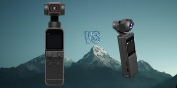 DJI Pocket 2 vs Keelead P6A Gimbal Action Camera Spec Comparison