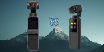 DJI Pocket 2 vs Snoppa Vmate Pocket Gimbal Action Camera Spec Comparison