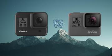 GoPro Hero 8 Black vs GoPro Hero 5 Black Action Camera Comparison