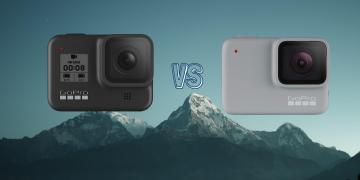GoPro Hero 8 Black vs GoPro Hero 7 White Action Camera Comparison