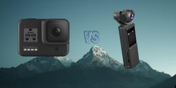 GoPro Hero 8 Black vs Keelead P6A Pocket Gimbal Action Camera Comparison