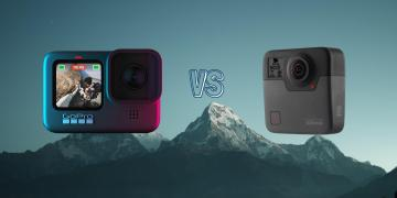 GoPro Hero 9 Black vs GoPro Fusion Action Camera Spec Comparison