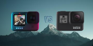GoPro Hero 9 Black vs GoPro Hero 7 Black Action Camera Spec Comparison