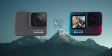 GoPro Hero 9 Black vs GoPro Hero 7 Silver Action Camera Spec Comparison