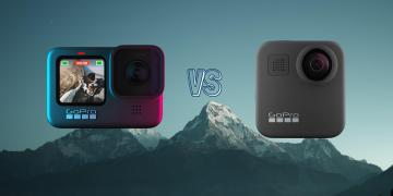GoPro Hero 9 Black vs GoPro Max Action Camera Spec Comparison