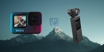 GoPro Hero 9 Black vs Keelead P6A Pocket Gimbal Action Camera Spec Comparison