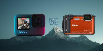 GoPro Hero 9 Black vs Nikon Coolpix W300 Action Camera Spec Comparison